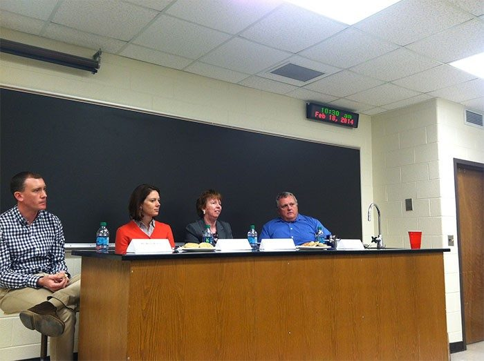 The GTS group hosts a panel discussion on getting hired in Higher Education!