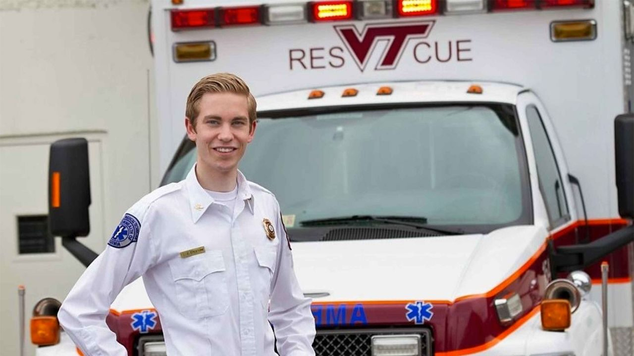 Outstanding senior by day, rescue squad chief by night